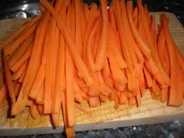 Zanahorias - Judías pintas con cogollos