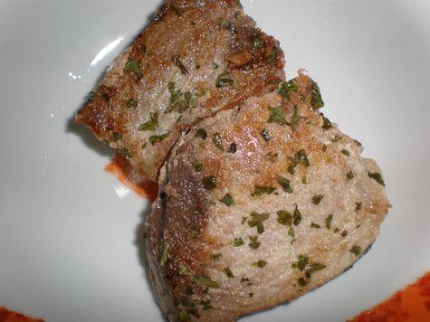 Filete de atún a la plancha con langostinos