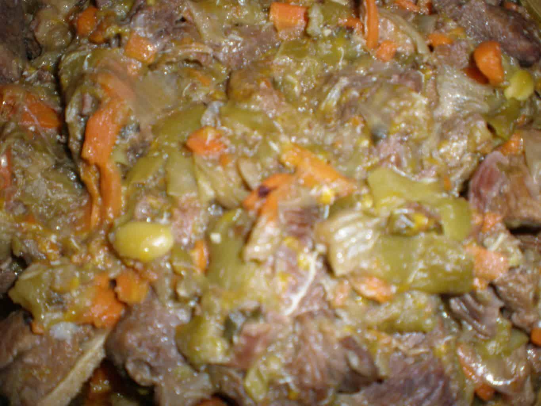 Carne de cabra a la naranja