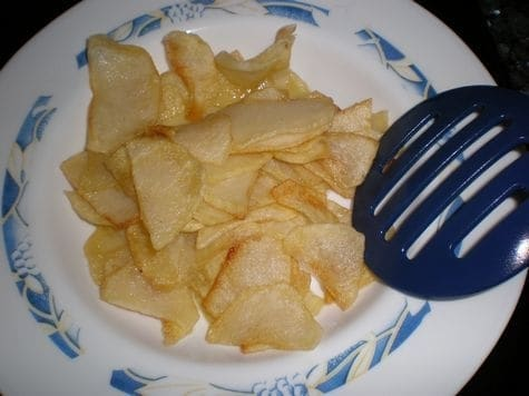 Papas chips caseras
