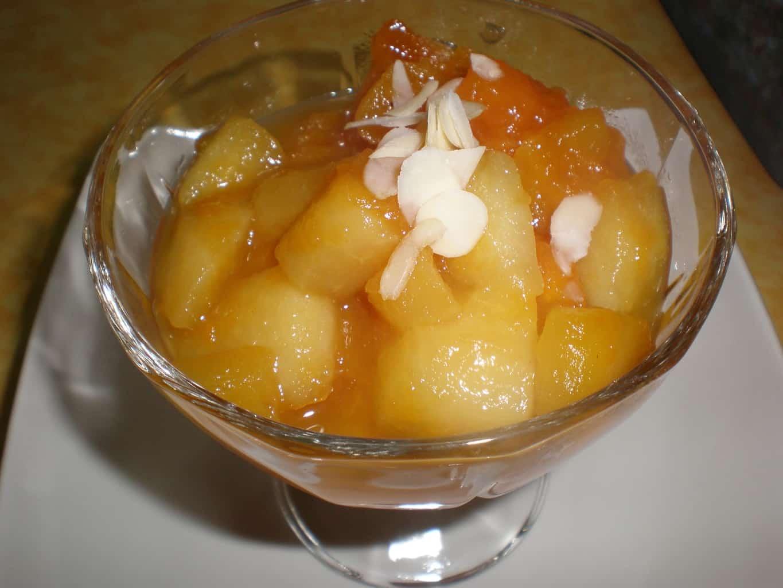 4fbac1ae9814b22f440e824a6b165325 - Reducción de fruta, en zumo de naranja