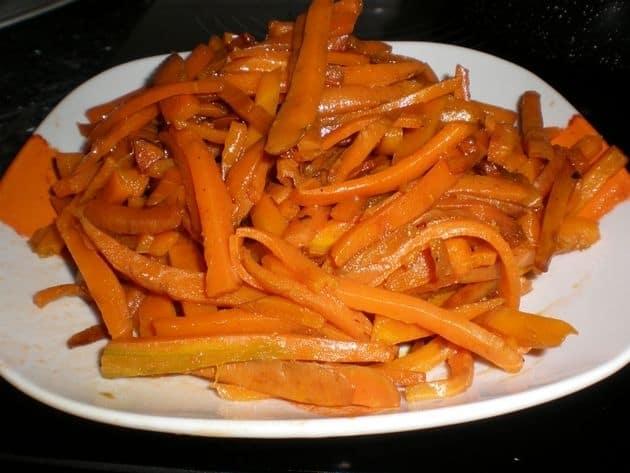Bastoncitos de zanahorias al dente