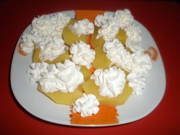 Manzanas con nata
