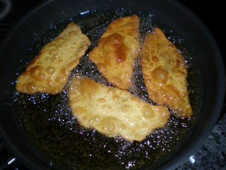Freír truchas de batata