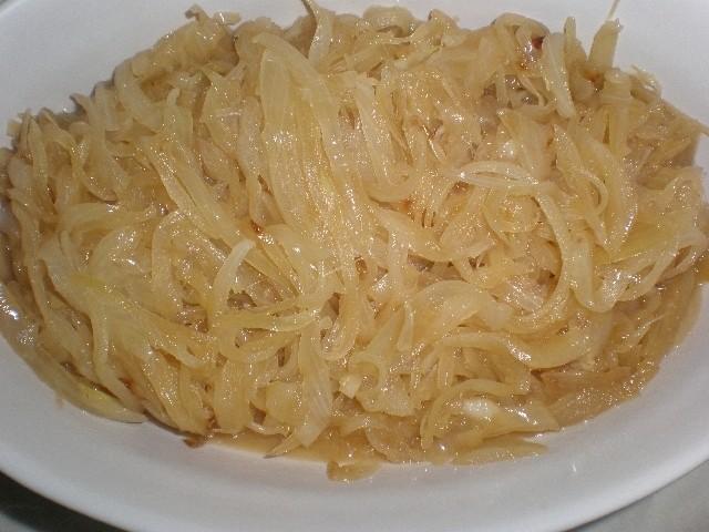 Cebolla caramelizada en Wok