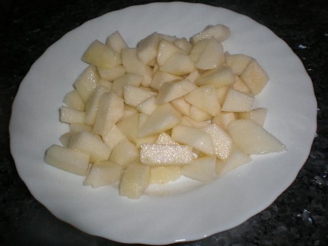 Pera en daditos - Ensalada de pera limonera