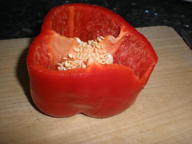 Medio pimiento rojo