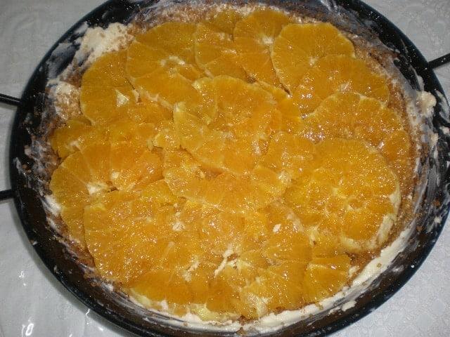 Tarta tatin de naranja