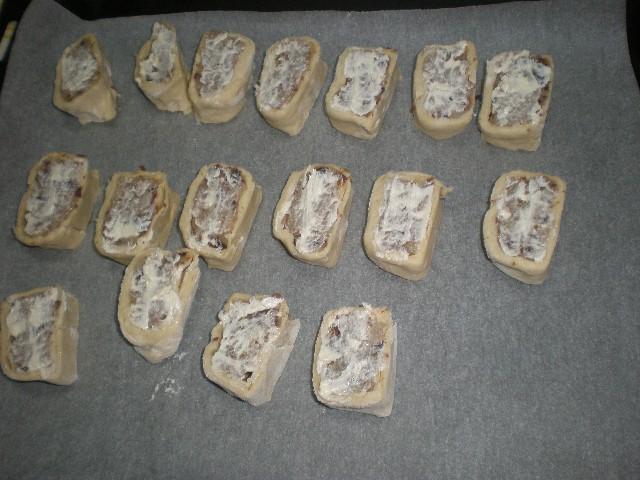 Caracolas rellenas de batata con mantequilla