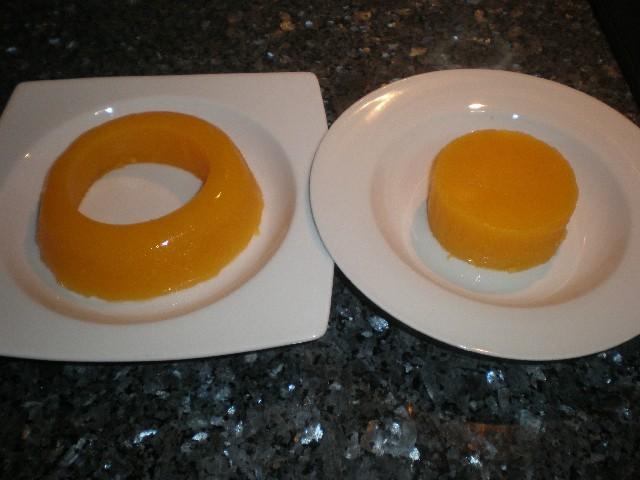 Corona de gelatina de mandarinas