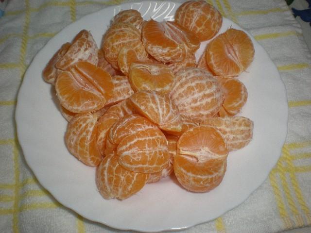 Mandarinas si piel - ▷ Corona de gelatina de mandarinas ?
