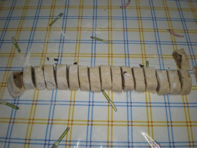 Caracolas rellenas de batata