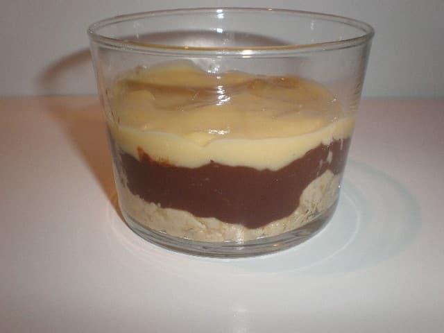 Galletas, chocolate y natilla