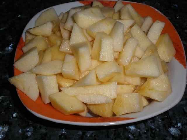Manzanas en dados