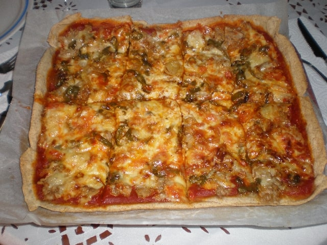 PIzza troceada - Pizza ovejera