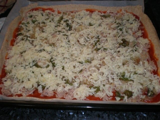 Pizza con queso - Pizza ovejera