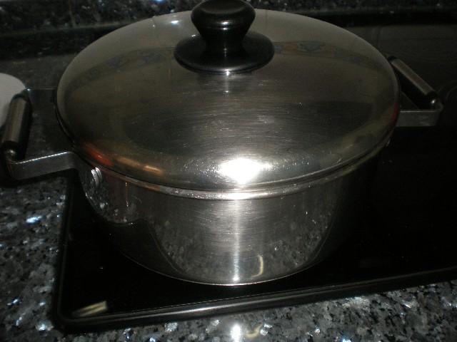 Tapar cazuela - Pollo al vino blanco