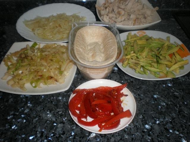 Ingredientes para barquitas de lomo de pavo