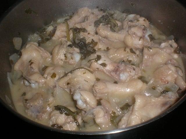Jamoncitos de pollo al perejil