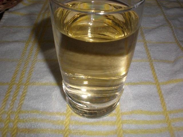 Vaso de vino blanco