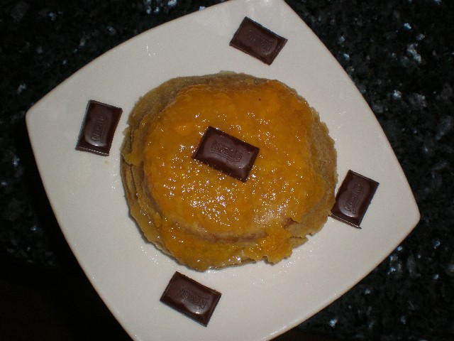 Mini tartita integral con mermelada de melocotón