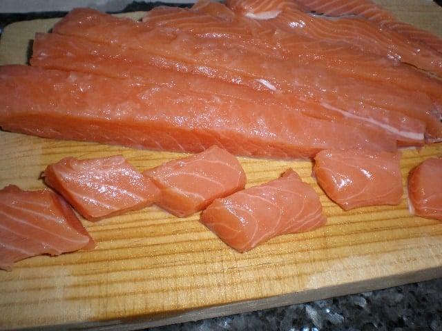 Partir salmón