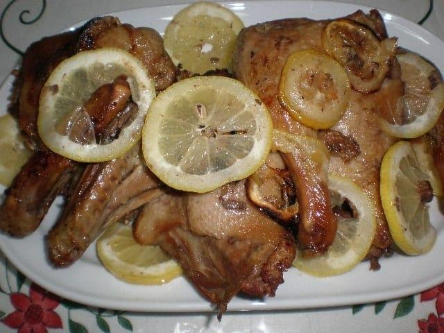 Pato al limón