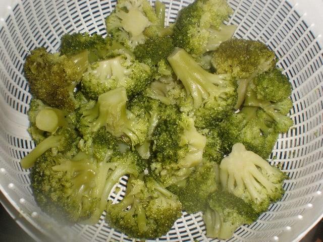 Escurrir brócoli