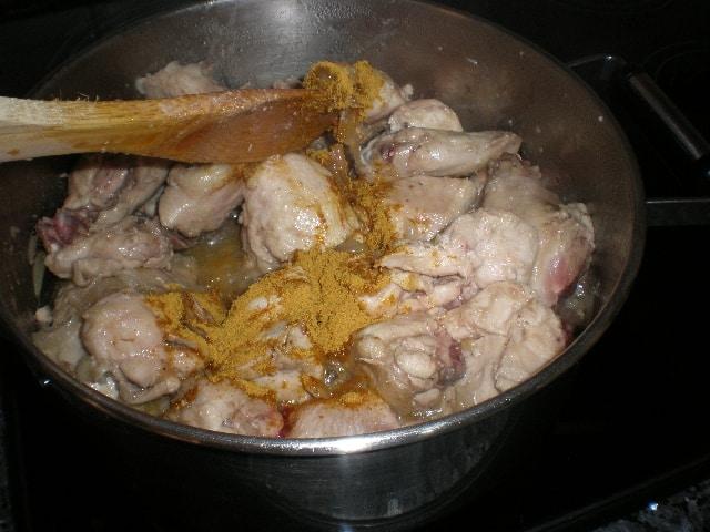 Elaborar Pollo Currypiña
