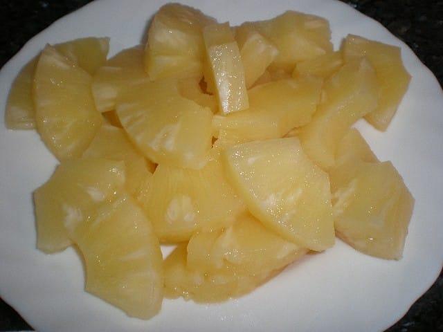 Piña troceada - ▷ Pollo Currypiña   