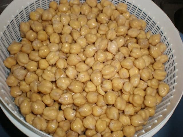 Garbanzos escurridos
