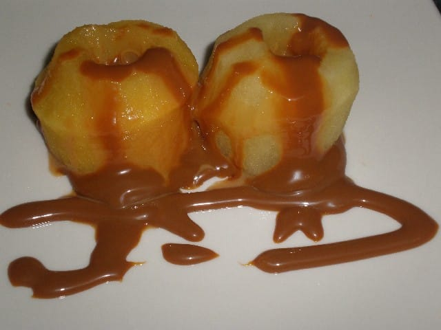 Manzanas tibias con dulce de leche  2 - Manzanas tibias con dulce de leche