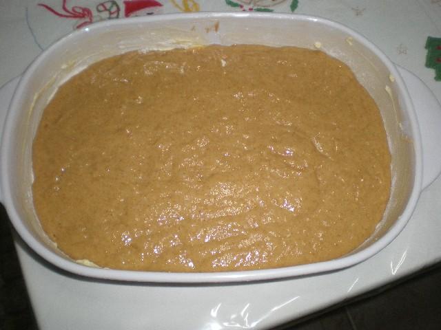 Masa en molde - Queque de naranja