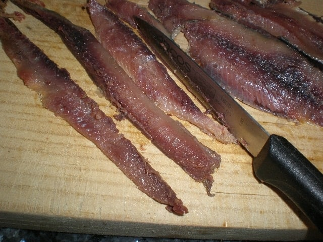 Filetes de sardinas saladas