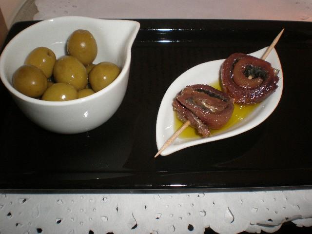 Rollitos de sardinas saladas