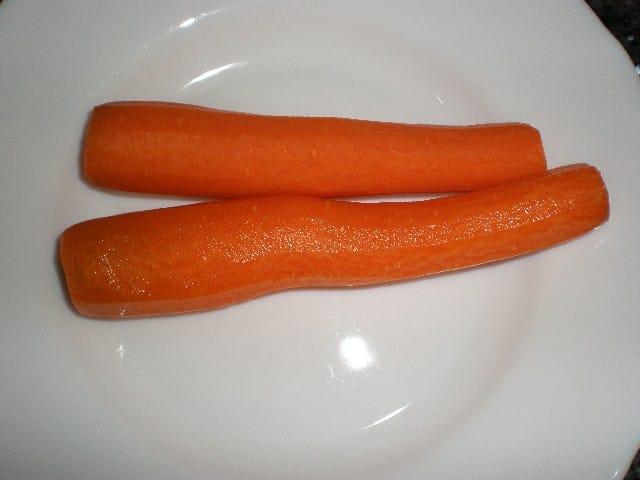 Zanahorias peladas