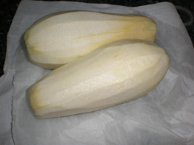 Calabacines pelados
