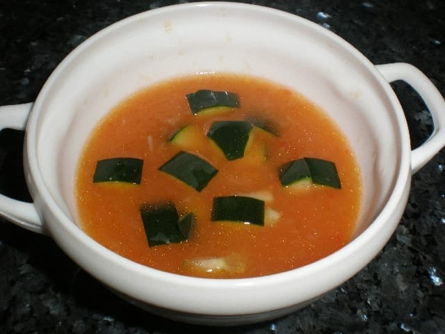 Gazpacho con pepino
