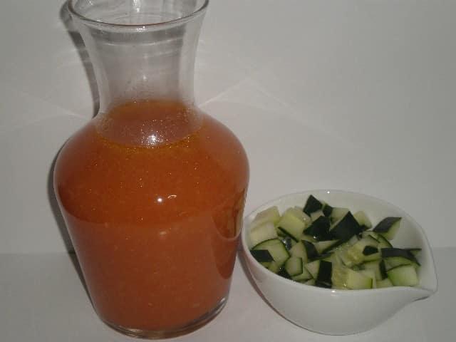 Gazpacho herrvido y pepino