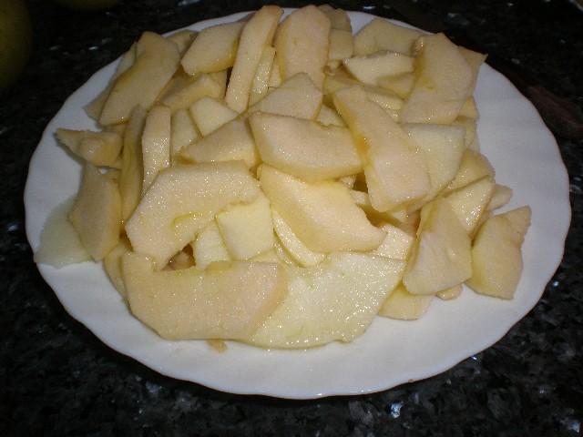 Manzanas troceadas