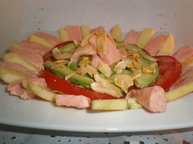 59625db612310396fe8256eac7f34376 - Ensalada de salmón encurtido con limón