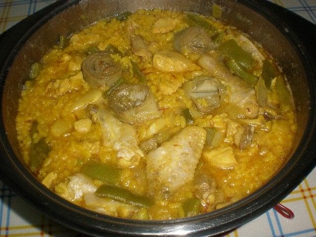 Arroz con pollo y alcachofas 1 - Arroz con pollo y alcachofas