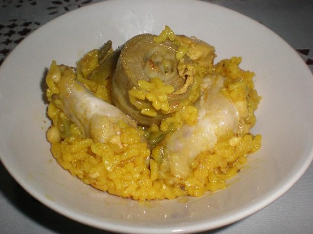 Arroz con pollo y alcachofas 3 - Arroz con pollo y alcachofas