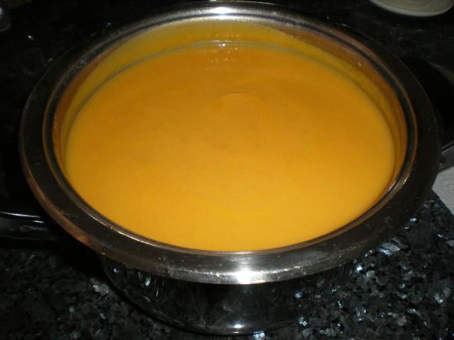 Crema de zanahorias con nata 1