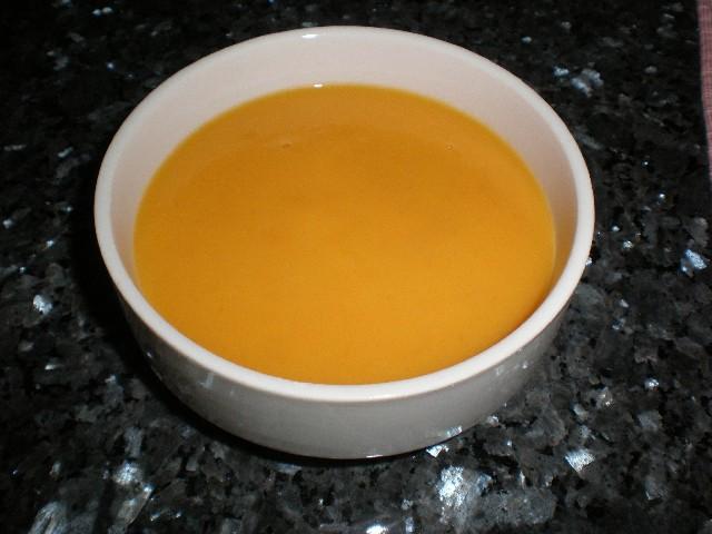 Crema de zanahorias con nata 2