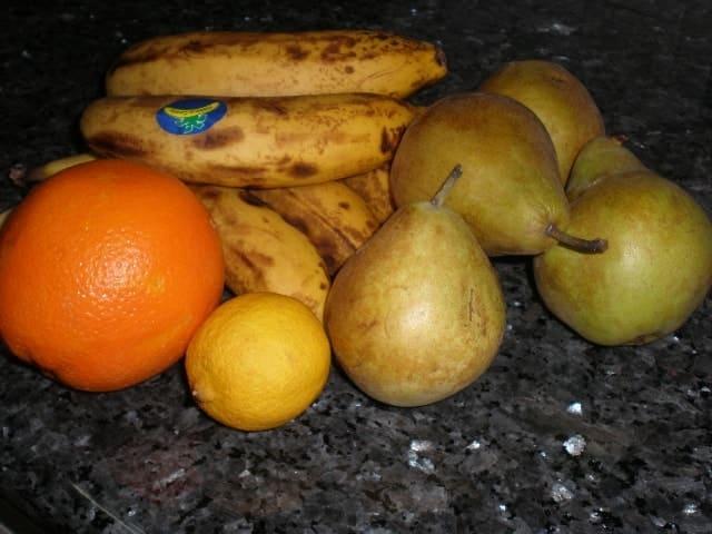 Fruta - ▷ Compota de plátano y pera con cítricos 🍌🍐🍊🍋🍐