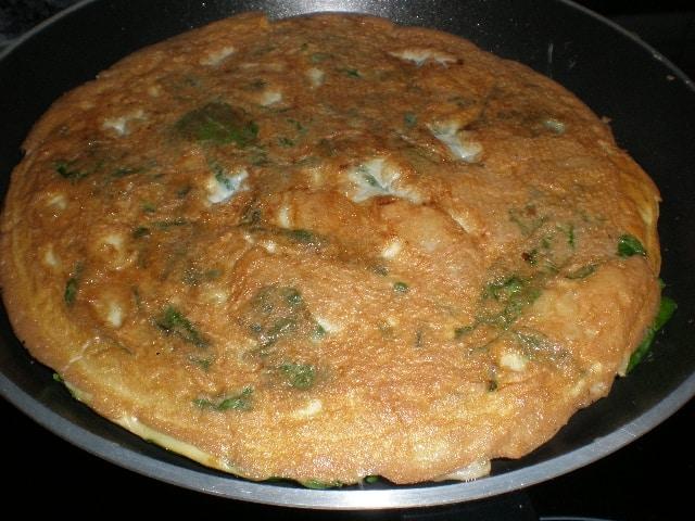 Tortilla de papas y espinacas