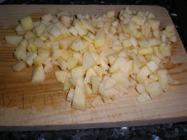 Manzanas en daditos