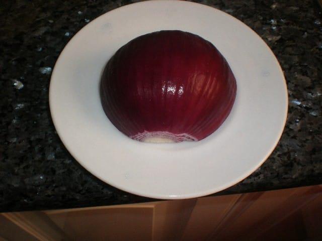 Media cebolla morada
