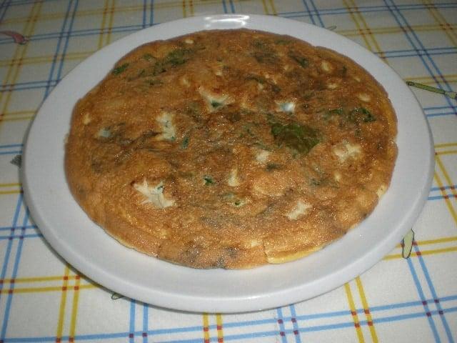 Tortilla de papas y espinacas 1